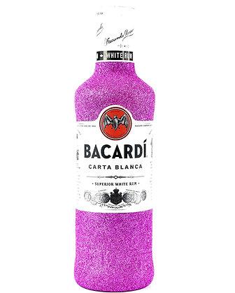 Glitter Bacardi Carta Blanca White Rum Bottle