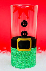 Christmas Glitter Elf Hiball Glass