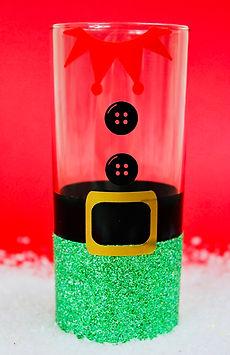 Christmas Glitter Elf Hiball Glass