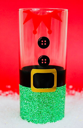 Elf Glitter Hiball Glass