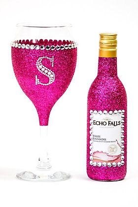Glitter Wine Glass Set