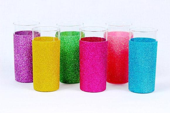 Glitter hi ball glass
