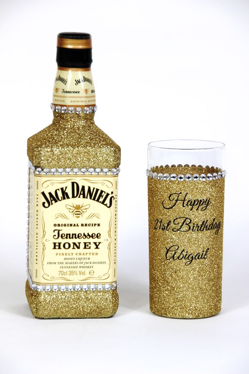 Glitter Jack Daniels Bottle Gift Set