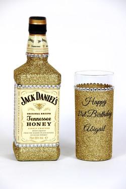 Glitter Jack Daniels Bottle Gift Set