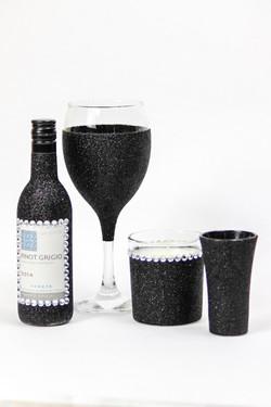 Glitter Wine Glass Gift Set