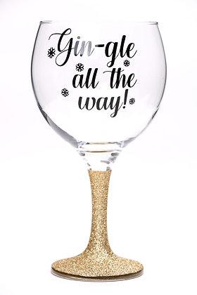 Gin-gle all the way glitter Gin Glass