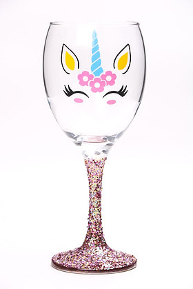 Chunky Fairy Cake Unicorn Wine Glass