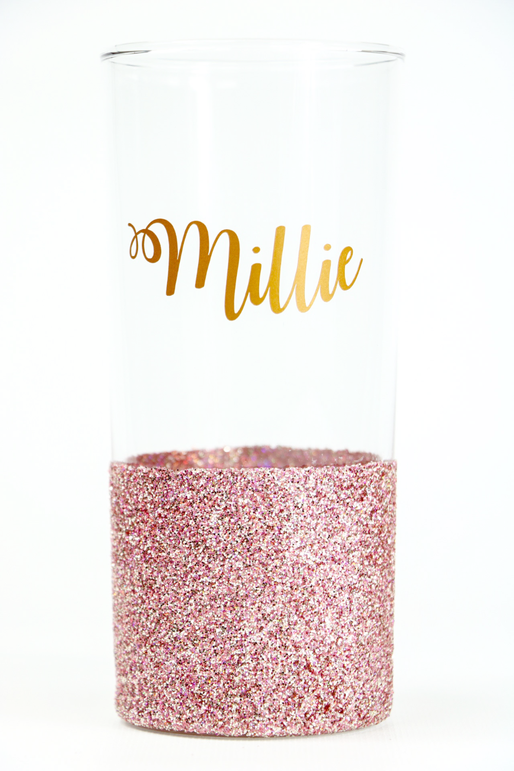 Personalised Glitter Hiball Glass