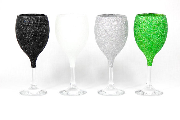 Glitter Wine Glass Plain
