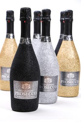 Glitter Prosecco bottles