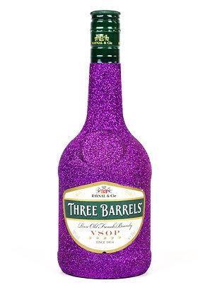 Glitter Three Barrels Brandy Bottle