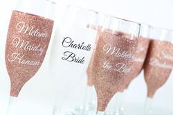 Personalised Glitter Champagne Glasses