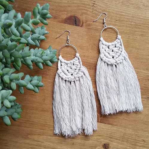 Macrame Mini Wall Hanging Earrings
