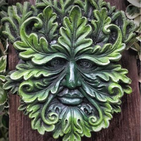 Emerald Green Man Garden Ornament