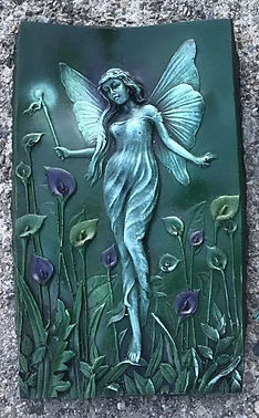 mythical-stone-green-angel-garden-ornament-wall-plaque