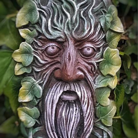 Celtic Green Man Garden Ornament