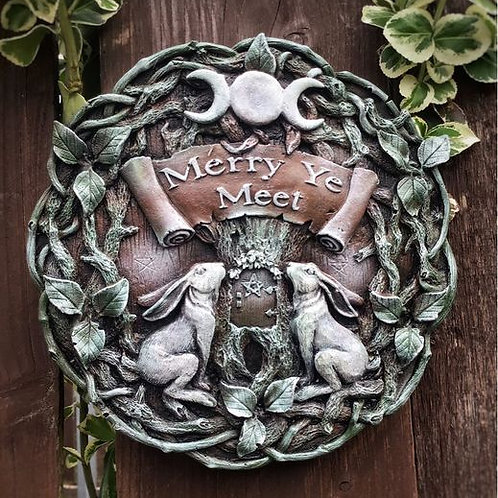 Moon Gazing Hare Garden Wall Ornament