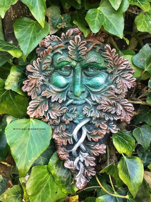 Smiling Green Man Wall Ornament