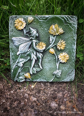 mythical-stone-yellow-flower-fairy-stone-wall-ornament-gift