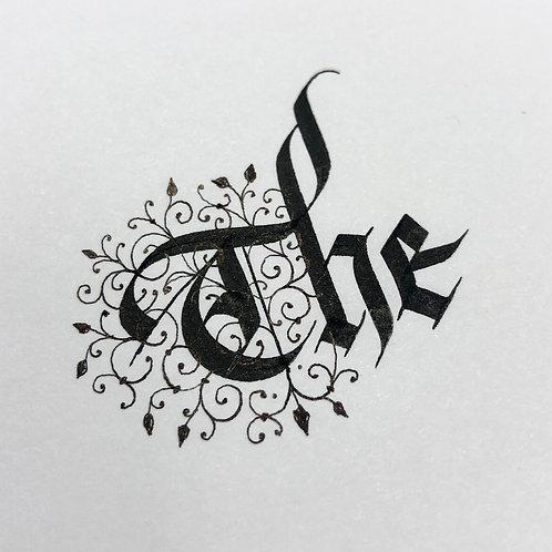 'The' - Original Calligraphy