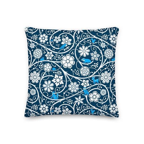Forest Pillow - Blue