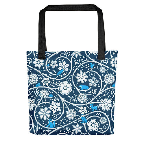 Forest Tote Bag - Blue