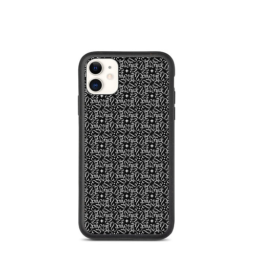 Calligraphy of the Renaissance iPhone Case (Biodegradable) - Black