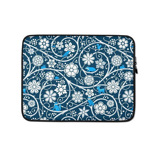 Forest Laptop Sleeve - Blue