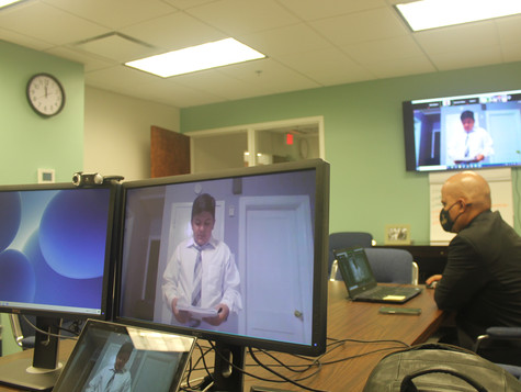 Bro. Angel Solis in the Command Center