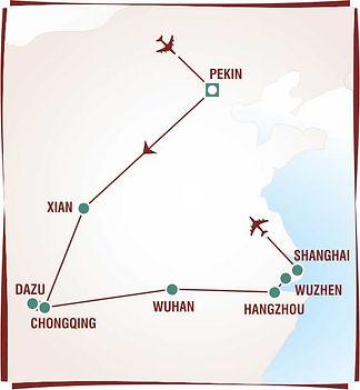 Carte Chine croisiere imperiale sur le f