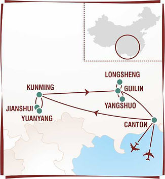 Carte Chine yunnan-guangxi-estampes de r