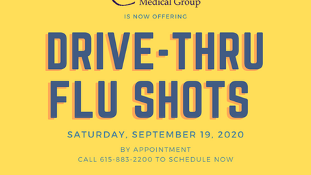 Schedule Your Drive-Thru Flu Shots Now