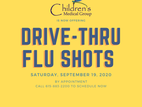 Schedule Your Drive-Thru Flu Shots Now