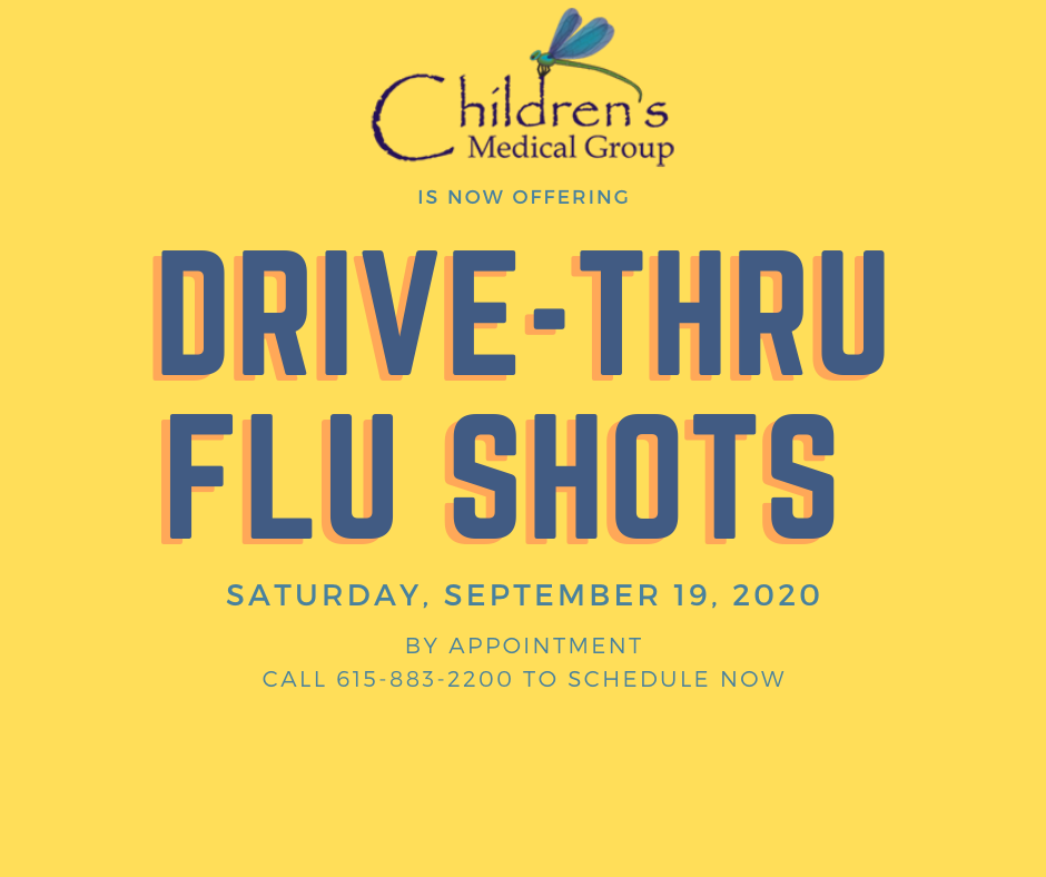 Children's Medical Group is now offering Drive-Thru Flu Shots on Saturday by appointment