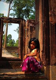 Petite fille khmère, asie a la carte by asieland
