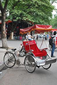 cyclo à Hanoi,  vietnam à la carte by asieland
