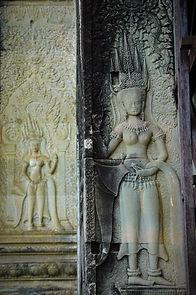 bas relief Apsara Angkor,  vietnam à la carte by asieland