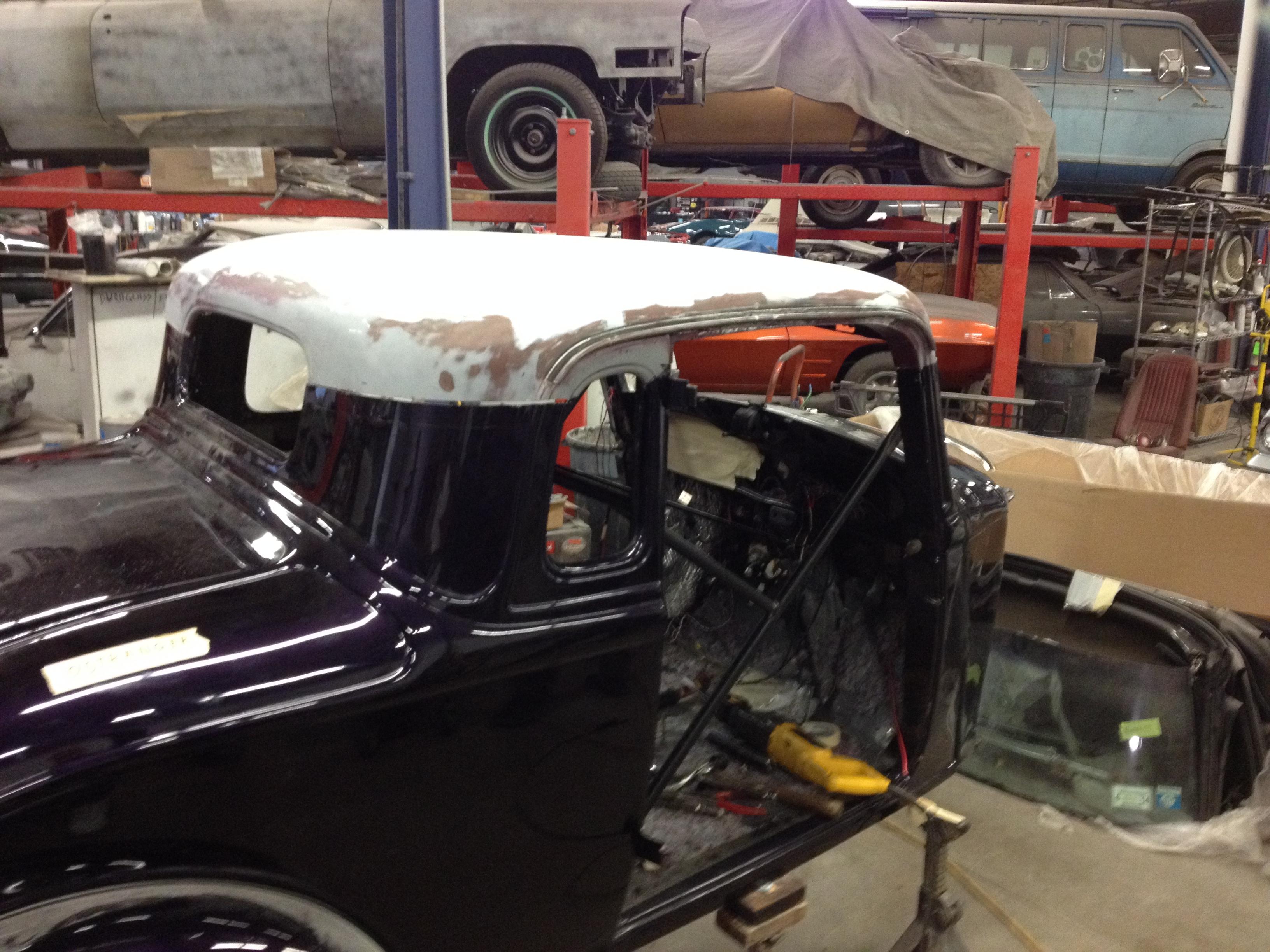 classic Plymouth restoration
