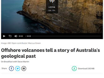 Offshore volcanoes tell a story of Australia's geological past