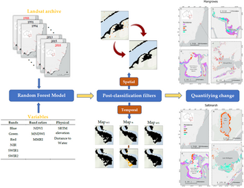 Spatiotemporal Distribution of Mangrove and Saltmarsh, and Land Cover Change for SE Australia
