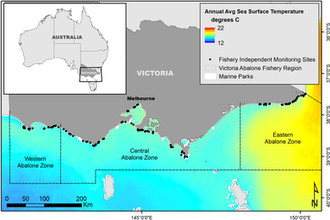 Long‐term Impacts of Changing Oceanographic Conditions on Abalone Density in South East Australia