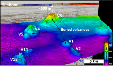 Warrnambool researcher discovers large-scale buried volcanoes in the Otway Basin