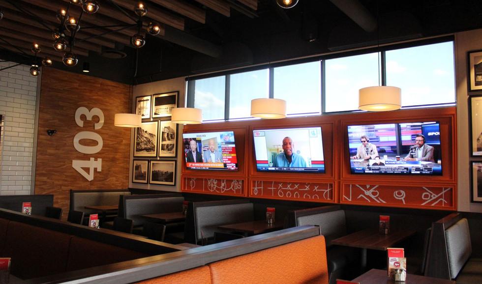 Boston Pizza Interior Seating