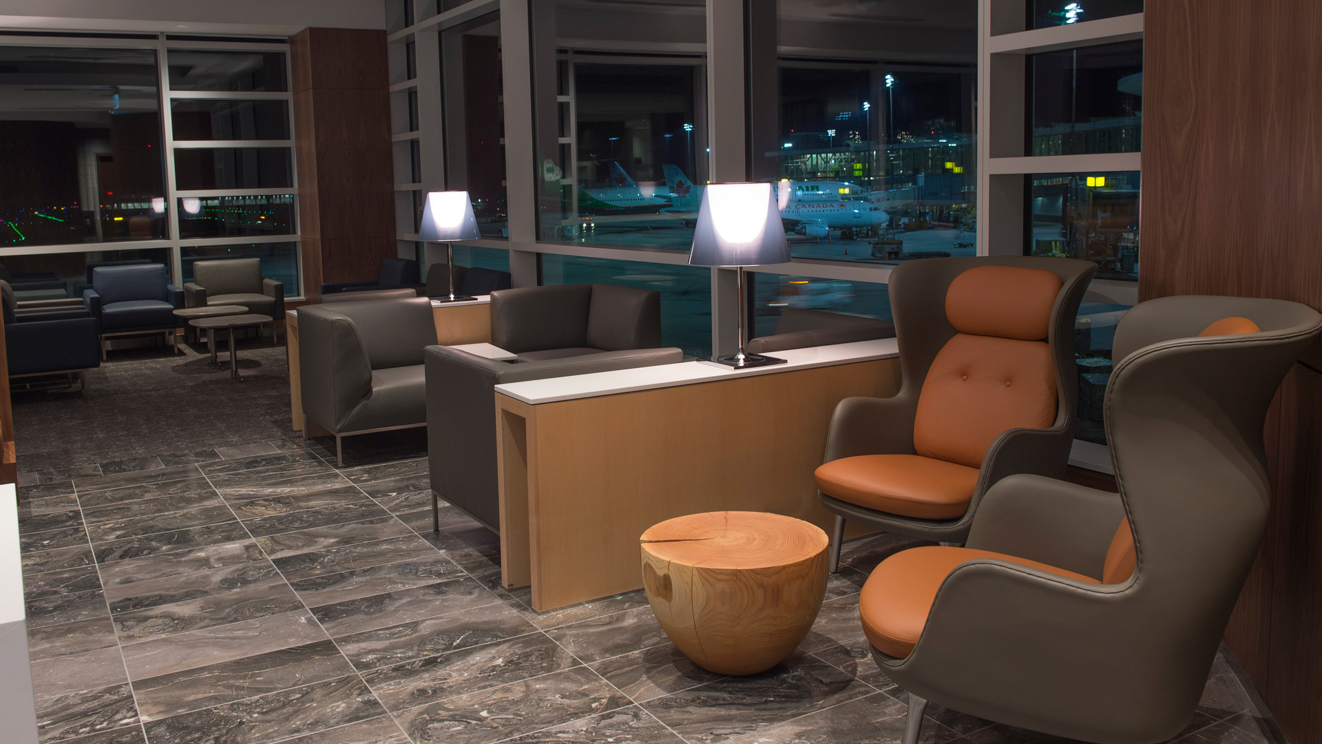 Air Canada Maple Leaf Lounge Seating