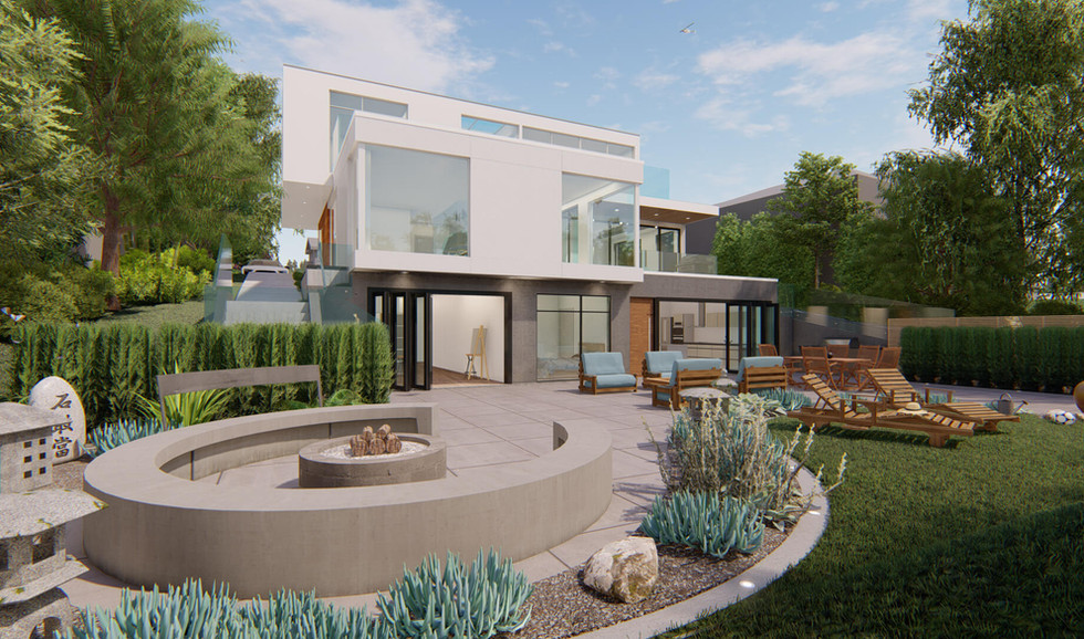 Private Residence Backyard Angle View