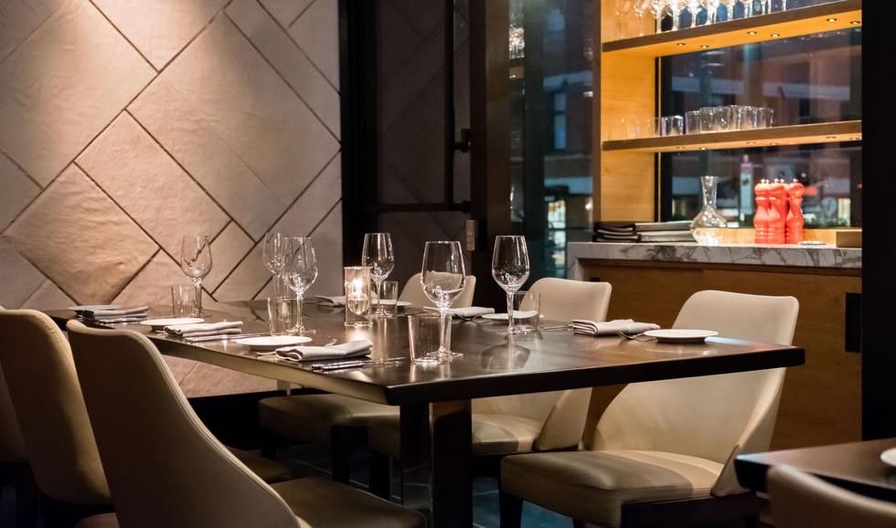 Elisa Steakhouse Table Closeup