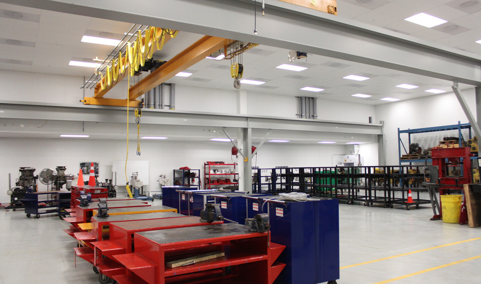 BCIT / VCC Motive Power Centre of Excellence  Machinery Room