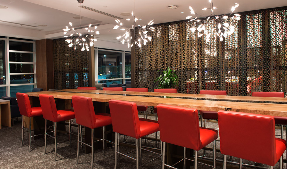 Air Canada Maple Leaf Lounge High Seating