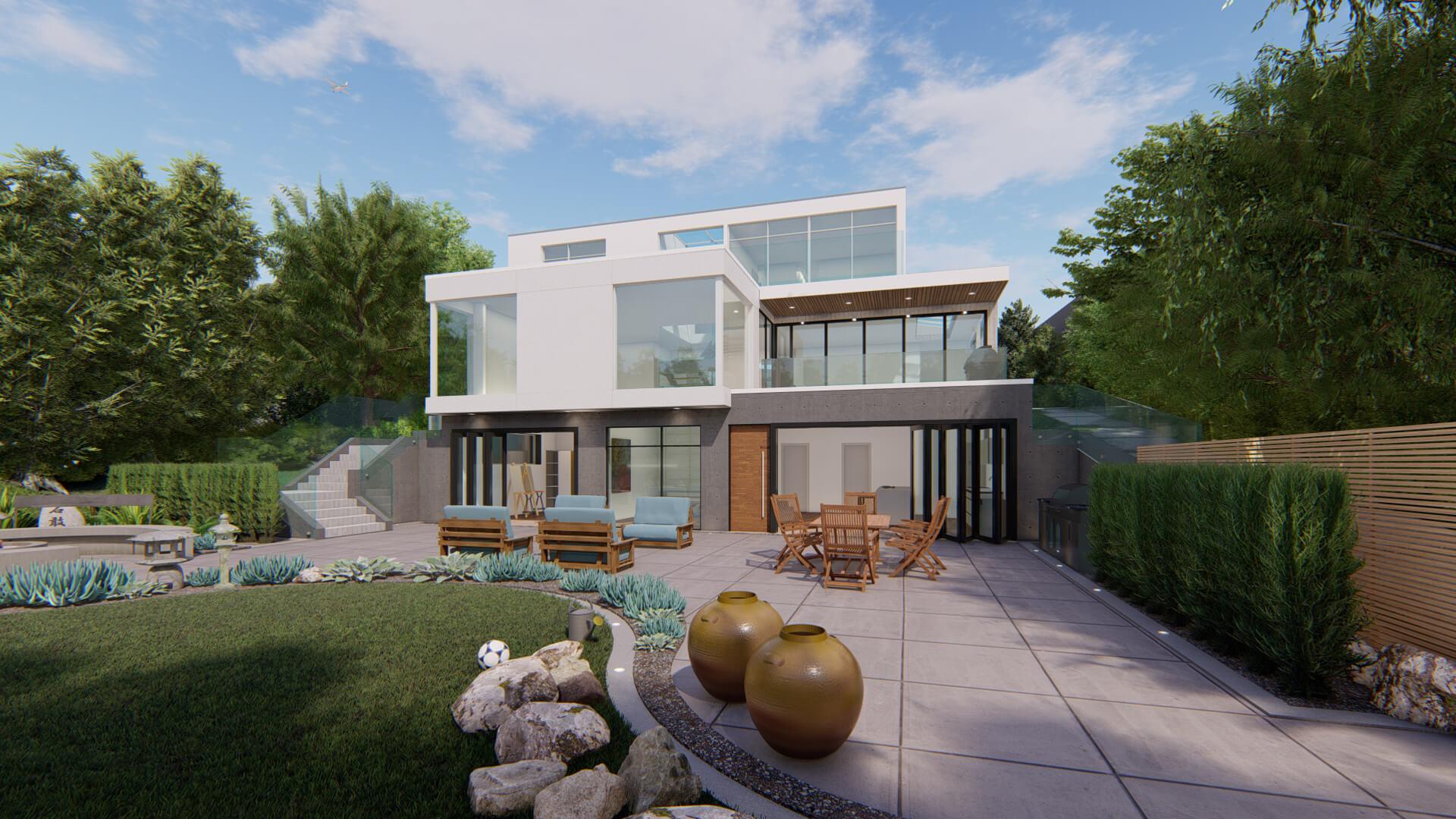 Private Residence Backyard Facade