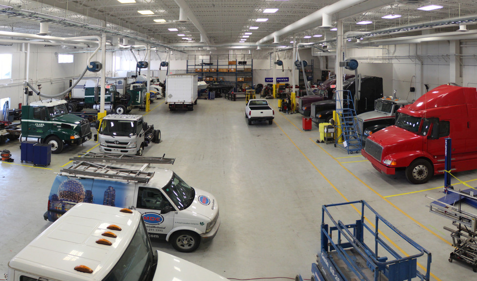 BCIT / VCC Motive Power Centre of Excellence Vehicle Room